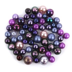 Preciosa Czech Glass Round Pearl Mix Lilac 50g