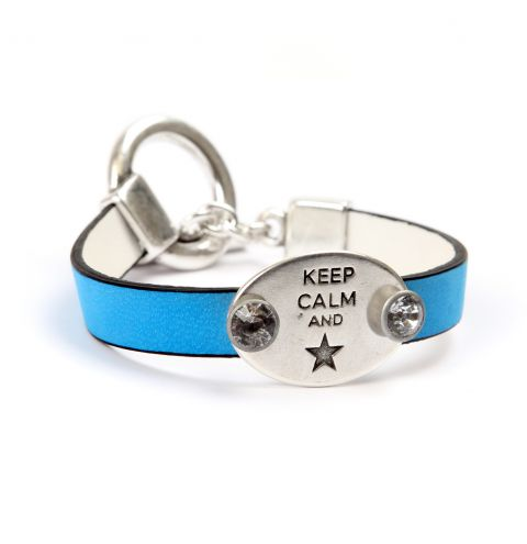 Keep Calm Neon Blue Bracelet