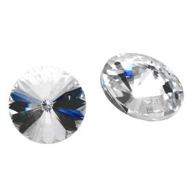 Bonny™ / crystal glass / rivoli / 8mm / Crystal / 14pcs