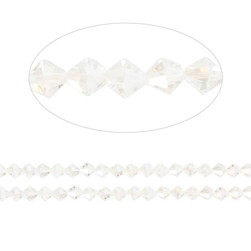 X- Essential Crystal 4mm Bicones Crystal AB Pk120