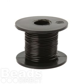 Black Coloured Copper Craft Wire 0.9mm 8metre Reel