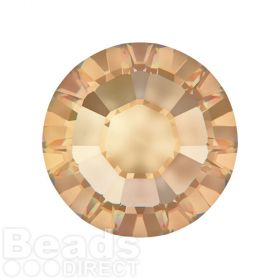 2078 Swarovski Crystal Hotfix Round 7mm SS34 Crystal Golden Shadow A HF Pk144