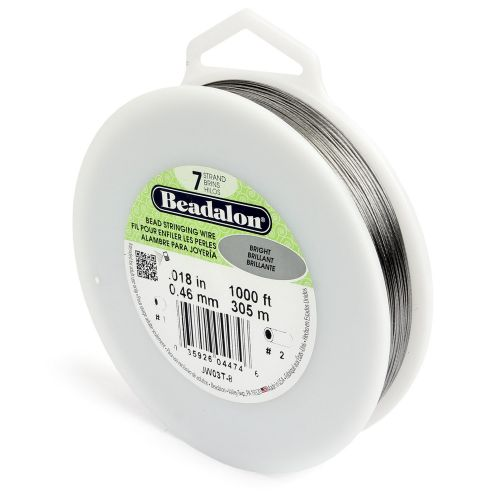 X-Beadalon 7 Strand Flexible Beading Wire 'Bright' 0.018in 1000ft