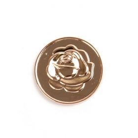 Small Rose Gold Rose/Love Coin Disk for Interchangeable Locket 24mm Pk1