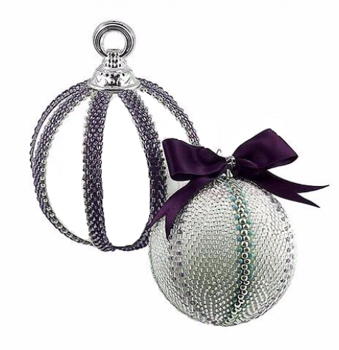 How to make a handmade Christmas beaded bauble - step by step tutorial