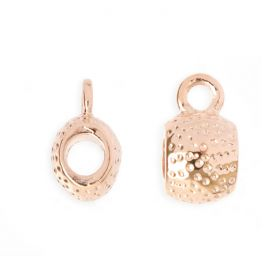 Rose Gold Plated Charm Carrier 5mm Pk1