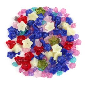 Preciosa Czech Glass Multi Colour Flower Bead Mix 50g