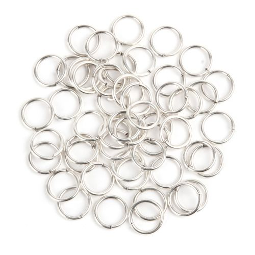 Antique Silver Plated Jump Rings 10.5mm (1.2mm thick) Pk50