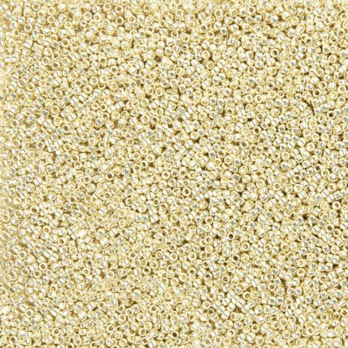 Toho Size 15 Round Seed Beads Permanent Finish Galvanised Aluminium 10g