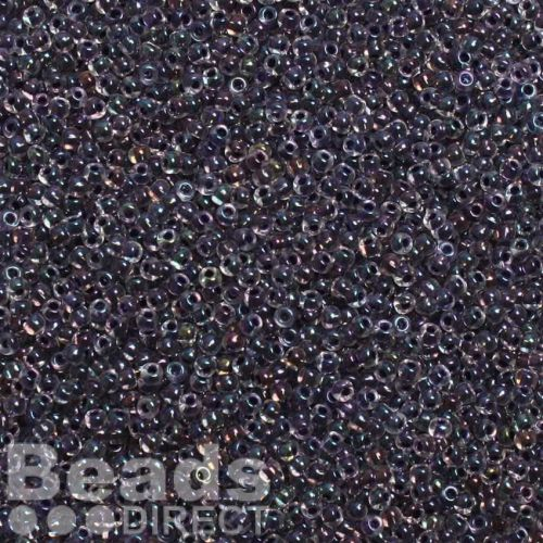 Toho Size 11 Round Seed Beads Inside Rainbow Crystal Tanzanite Lined 10g