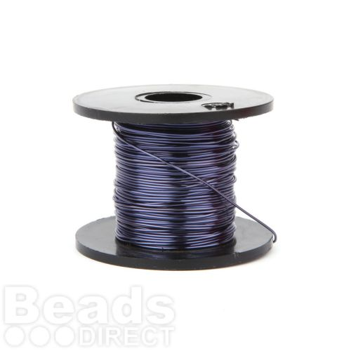Dark Blue Coloured Copper Craft Wire 0.5mm 25metre Reel