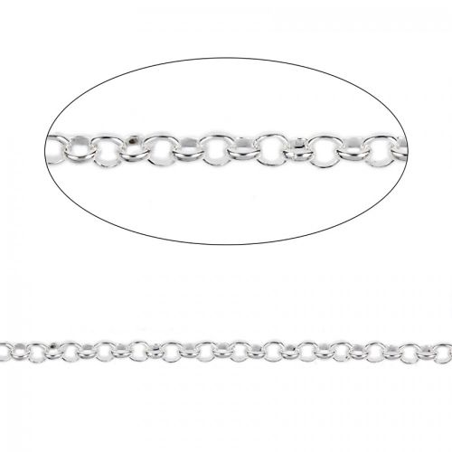 Sterling Silver 925 Belcher Chain 3mm Sold Per Inch