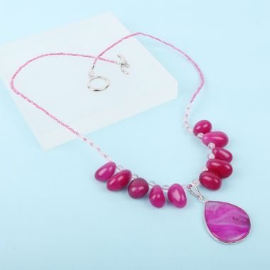 Fuchsia Nugget Necklace