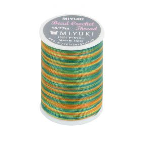 Miyuki Bead Crochet Polyester Thread 0.45mm Green Mix 25metres