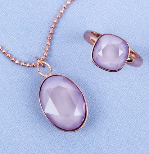 Lilac Crystal Jewellery