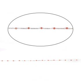 Sunstone Semi Precious Silver Plated Chain 2.5mm Pre Cut 1metre