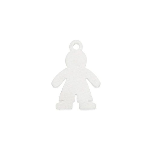 Boy / charm / surgical steel / 15x10x1mm / silver / 1pcs