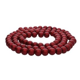 SeaStar™ satin / round / 10mm / burgundy / 85pcs