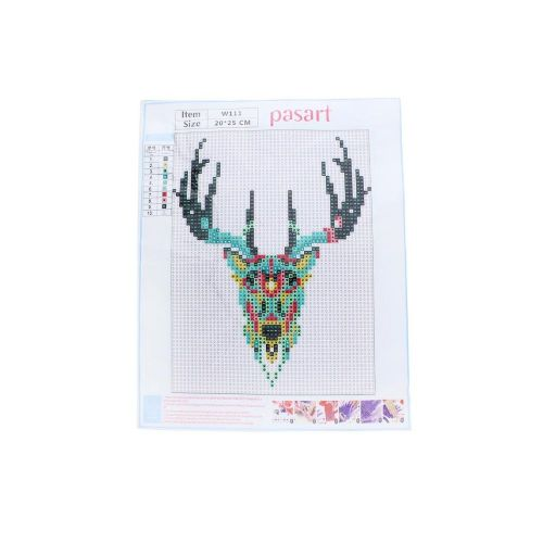 Diamond painting / mosaic / multicoloured deer / 20x25cm / 1pcs