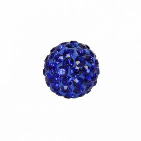 Blue Crystal 10mm Premium Shamballa Fashion Round Pk1