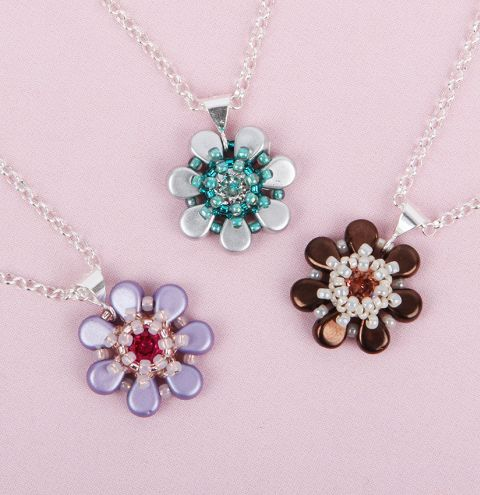 Amos Flower Pendants