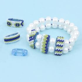 Blue and Lime Carrier Duo Bracelet Take a Make Break Kit