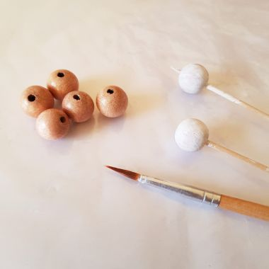 How to Make - Hand-Painted Wooden Bead Tassels