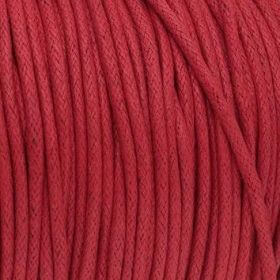 Waxed cord / red / 2.0mm / 1m