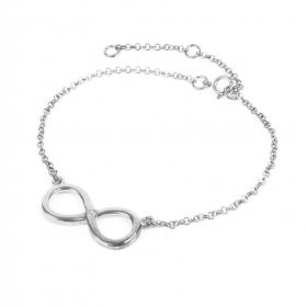 Ready To Wear Sterling Silver 925 Infinity Bracelet w/Box