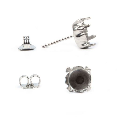 X Titanium Plated Earring Post and Earring Back to Fit SS39 Crystal 1xPair