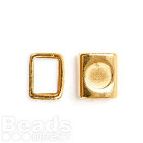 Gold Plated Zamak Charm Ring Holds SS39 10x13x15mm Pk1
