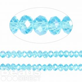 Essential Crystal Faceted 4mm Rondelle Turquoise AB 150pack