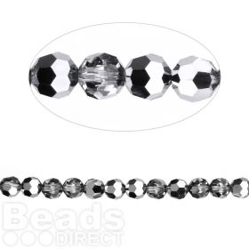 5000 Swarovski Crystal Faceted Rounds 4mm Crystal LightChrome Pk12