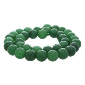 Agate / faceted round / 10mm / grass green / 35pcs