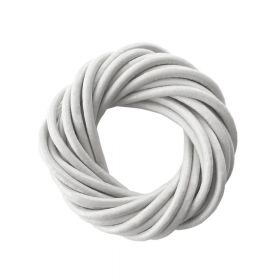 Faux leather cord / natural / round / 4.0mm / grey / 2m