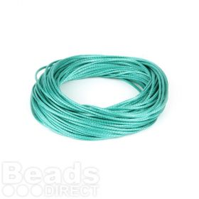 Shiny Coated Braiding Cord 1mm Turquoise 10m