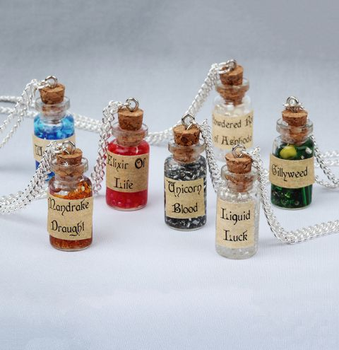 Potion Bottle Necklace Collection
