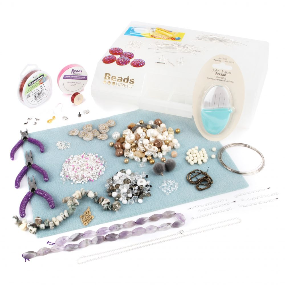 7e4fc5b36f73e Jewellery Making Starter Kit includes Pliers and Bead Mat