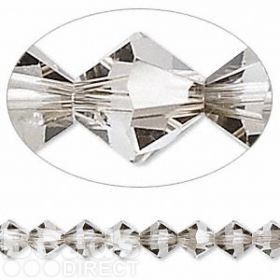 5328 Swarovski Crystal Bicones Xillion 6mm Satin Pk24