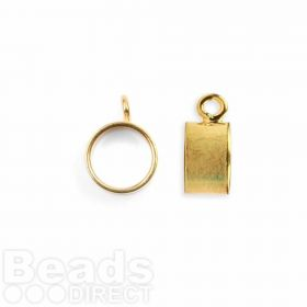 Gold Plated Kumihimo Pendant Slide 9.5mm Pk1