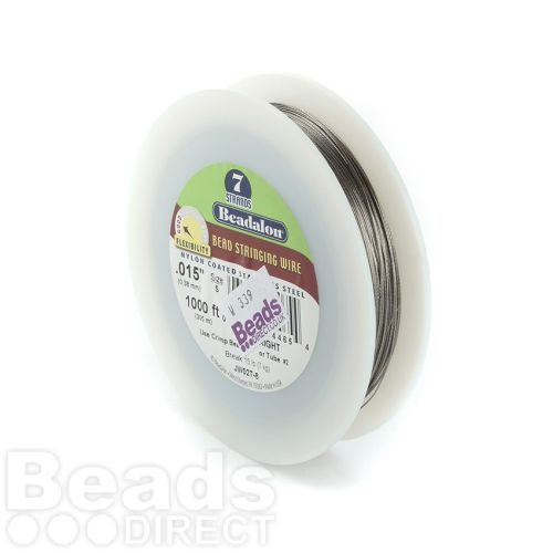 Beadalon 7 Strand Flexible Beading Wire 'Bright' 0.015in 1000ft