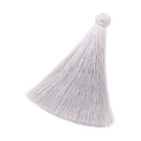 Tassel / viscose thread / 70mm / width 10mm / mauve / 1pcs