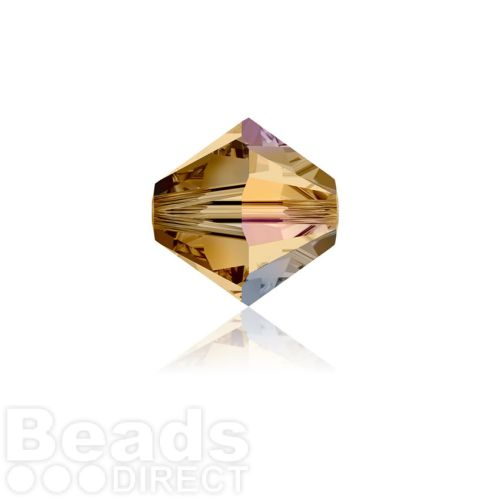 5328 Swarovski Crystal Bicones 4mm Light Colorado Topaz AB Pk1440