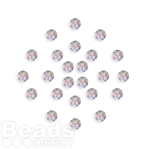 2088 Swarovski Crystal 4mm Crystal AB F Xillion Flat Backs Pk24