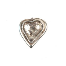 Antique Silver Zamak Sweet Heart Setting Slider Bead 15mm Pk1