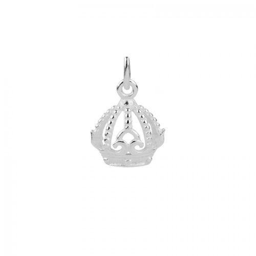 X-Sterling Silver 925 Small Crown Charm 10x12mm Pk1