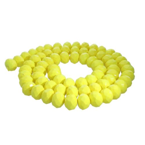 Milly™ / rondelle / 8x10mm / neon yellow / 70pcs