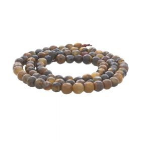Agate / faceted round / 4mm / cocoa / 90pcs