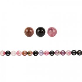 Tourmaline Semi Precious Round Beads 6mm Pk20