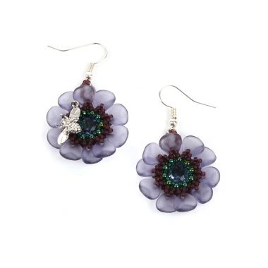 Crystal Anemone Earrings